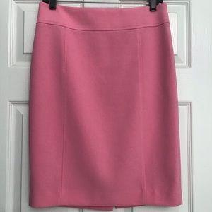 LOFT Pink Lined Pencil Skirt Size 4